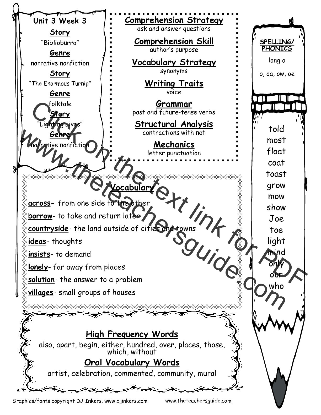 Synonym Worksheet for 2nd Grade Wonders Second Grade Unit Three Week Three Printouts