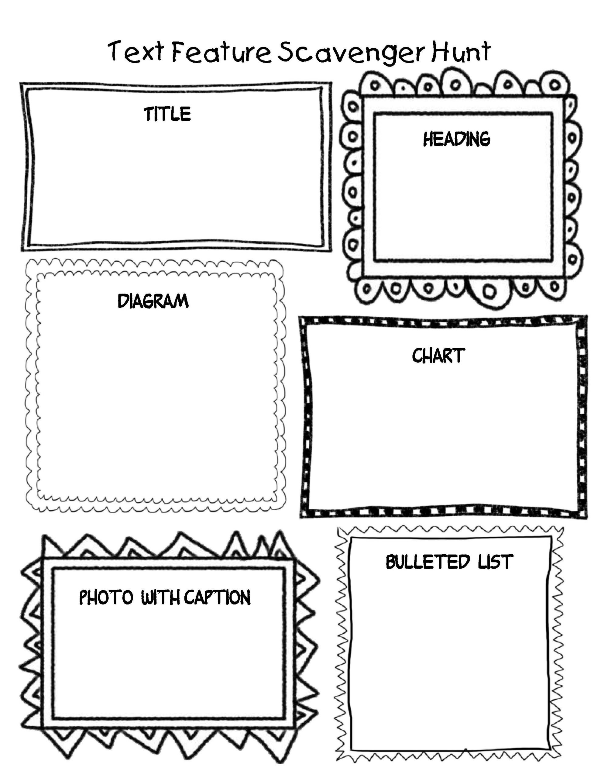 Text Feature Worksheets 3rd Grade Create One Of these Students Could then Create One Of their