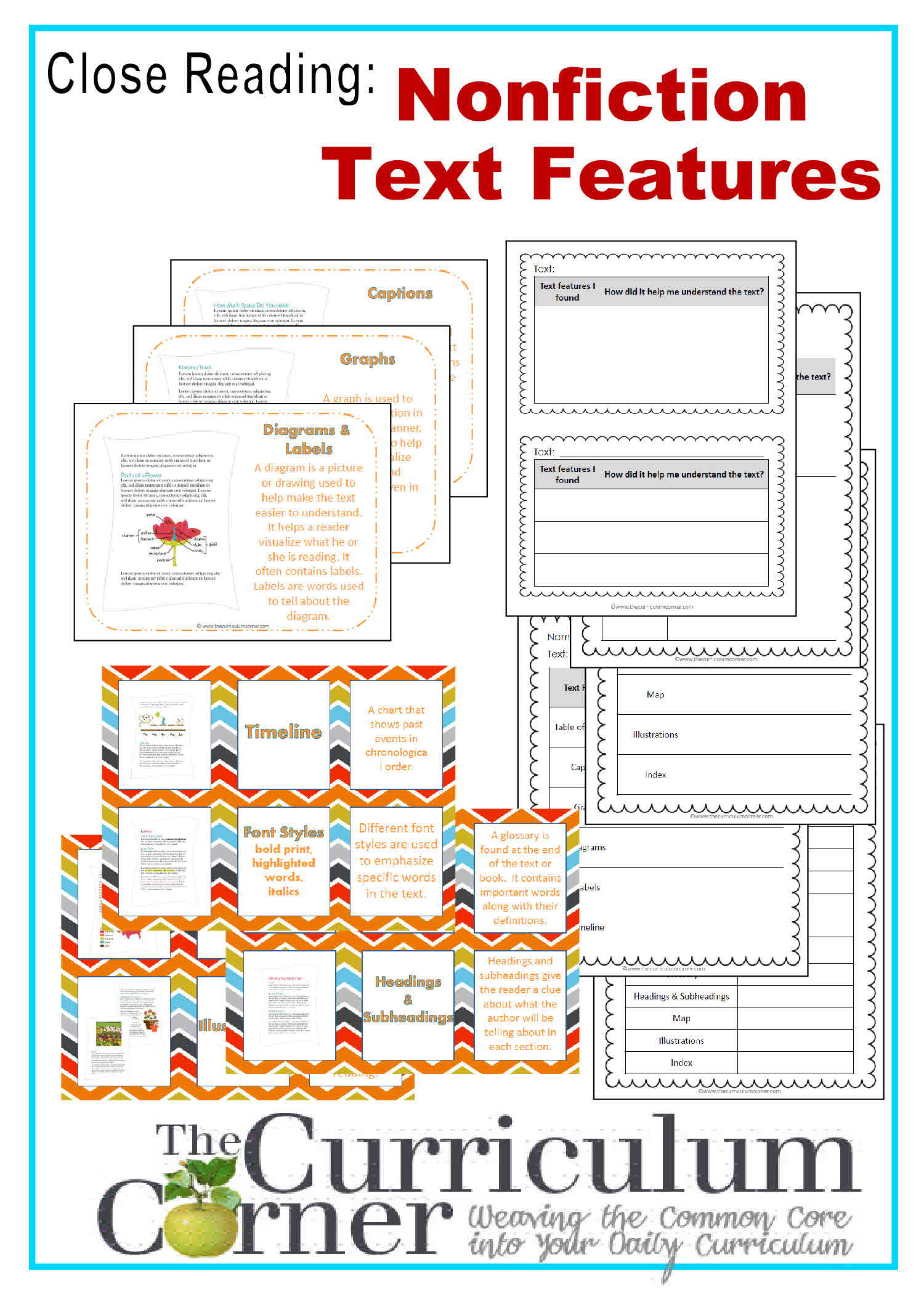 Text Feature Worksheets 3rd Grade Nonfiction Text Features Worksheet