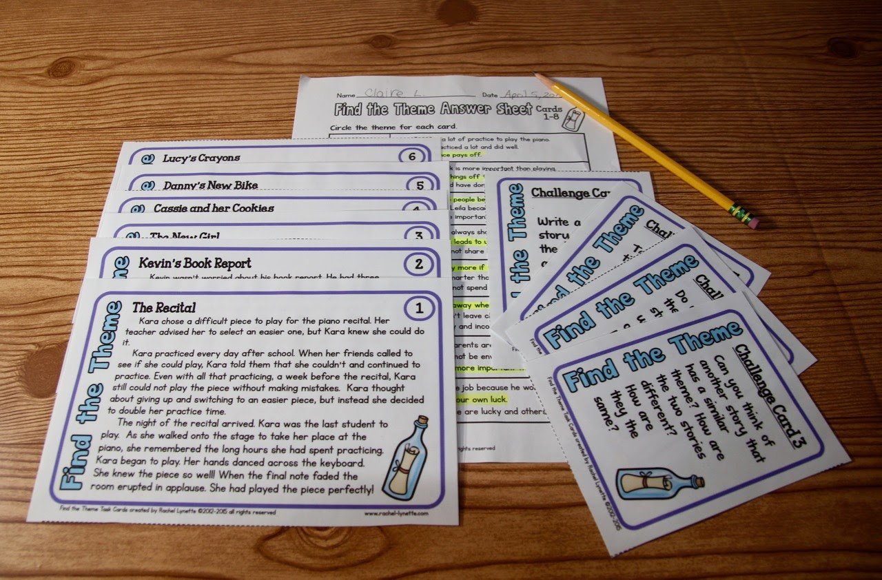 Theme Worksheet 4th Grade Ideas for Teaching theme and A Couple Freebies Minds In