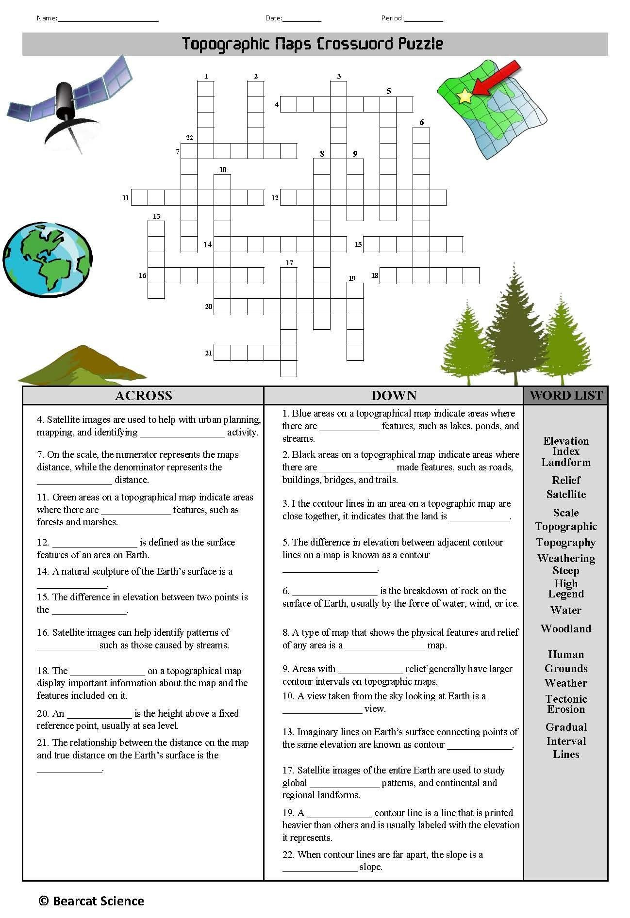 Topographic Map Worksheet Middle School Middle East Geography Worksheet