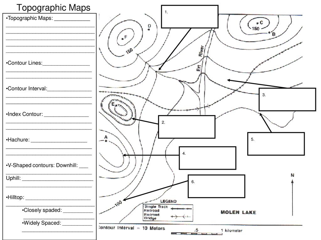 Topographic Map Worksheet Middle School topographic Maps topographic Maps Ppt