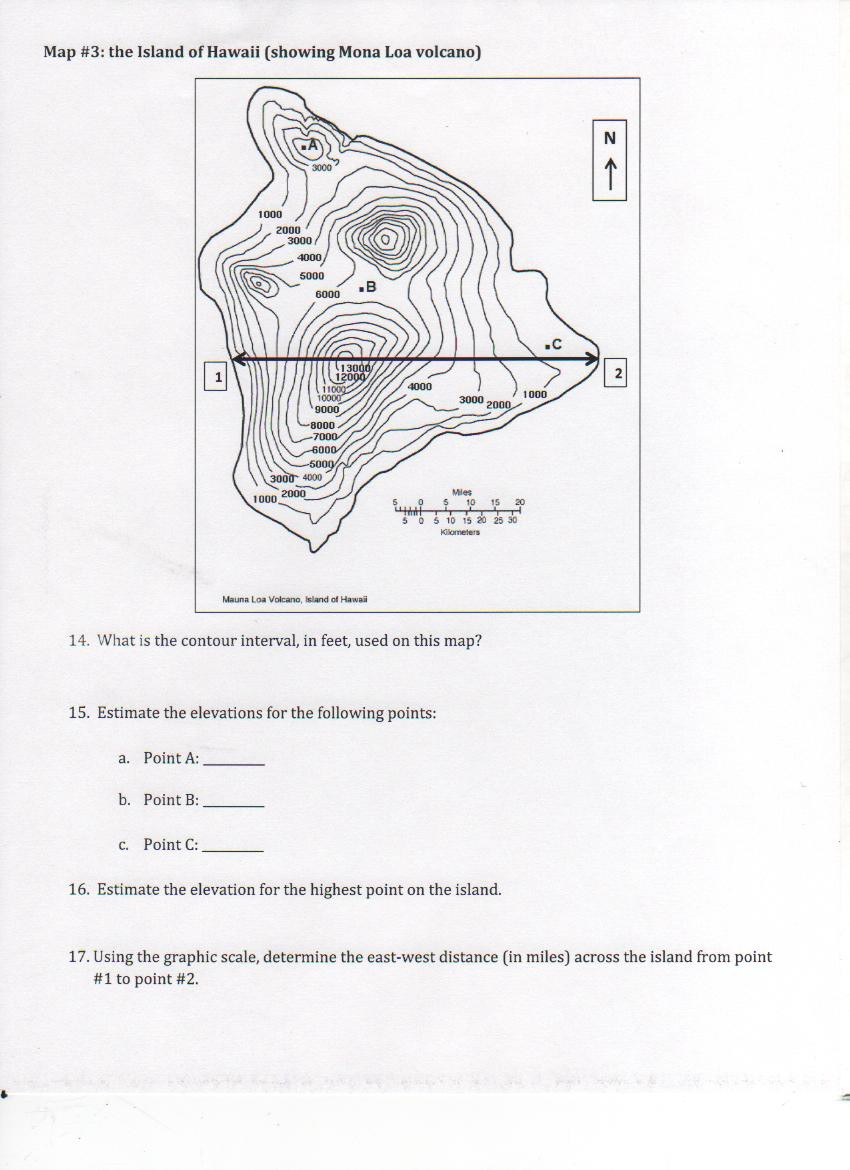 Topographic Map Worksheet Middle School topographical Map Worksheet