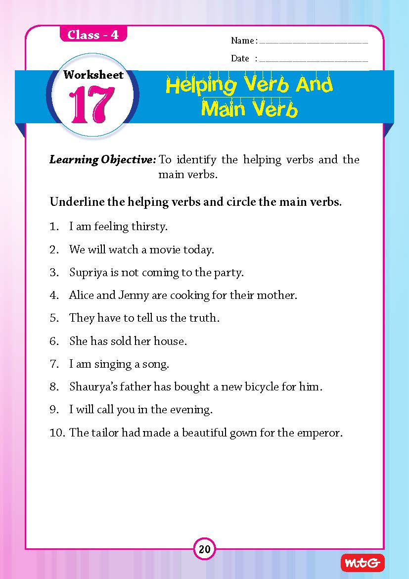 Verb Tense Worksheets 4th Grade Worksheet Class Driving Licenceding Prehension