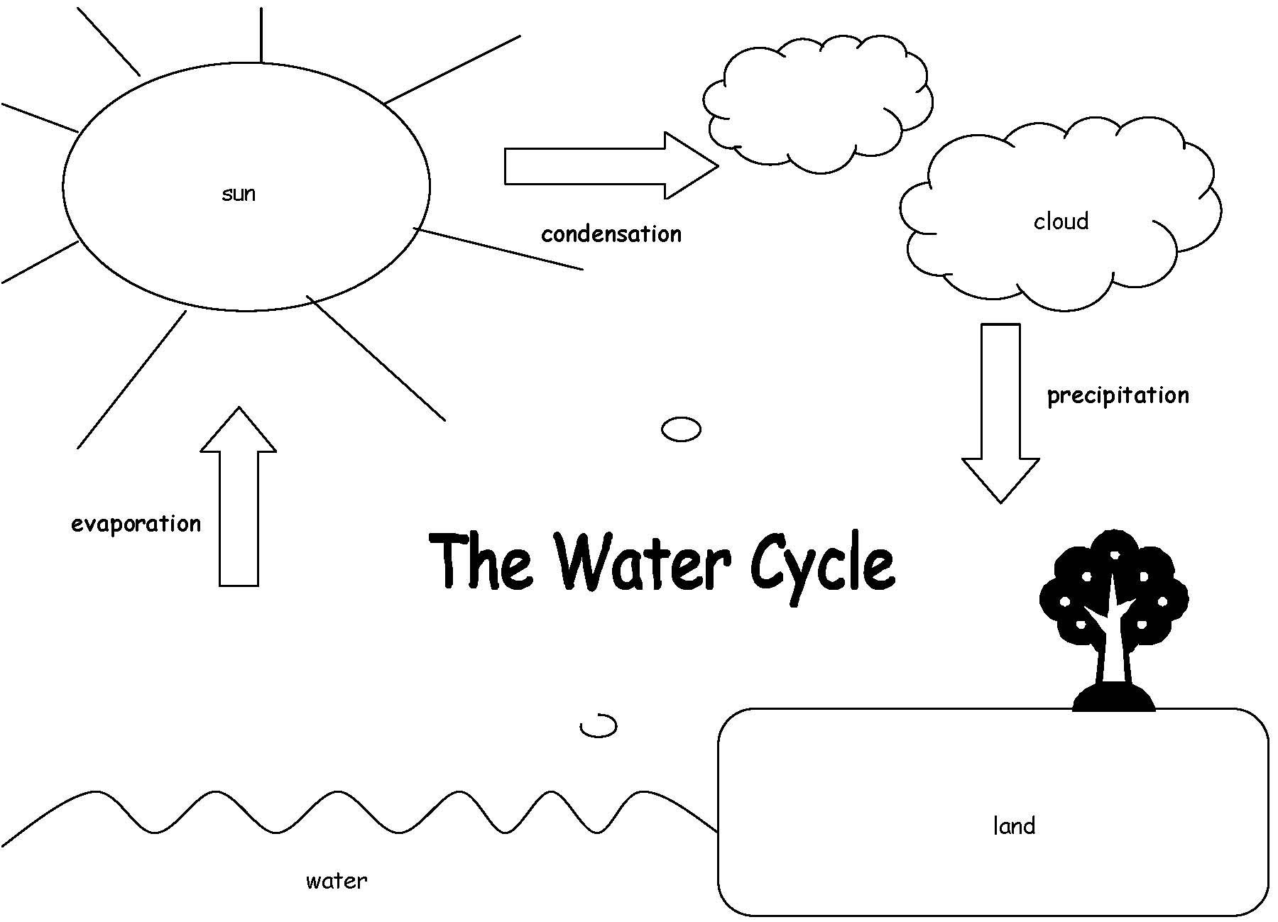 Water Cycle Worksheet 2nd Grade Label the Water Cycle Diagram Worksheet