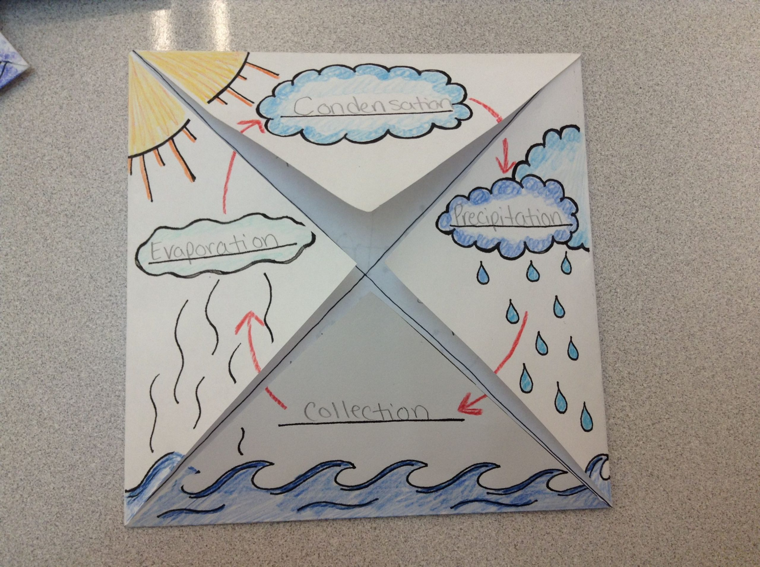Water Cycle Worksheet 2nd Grade the Water Cycle Foldable Graphic organizer 2nd Grade