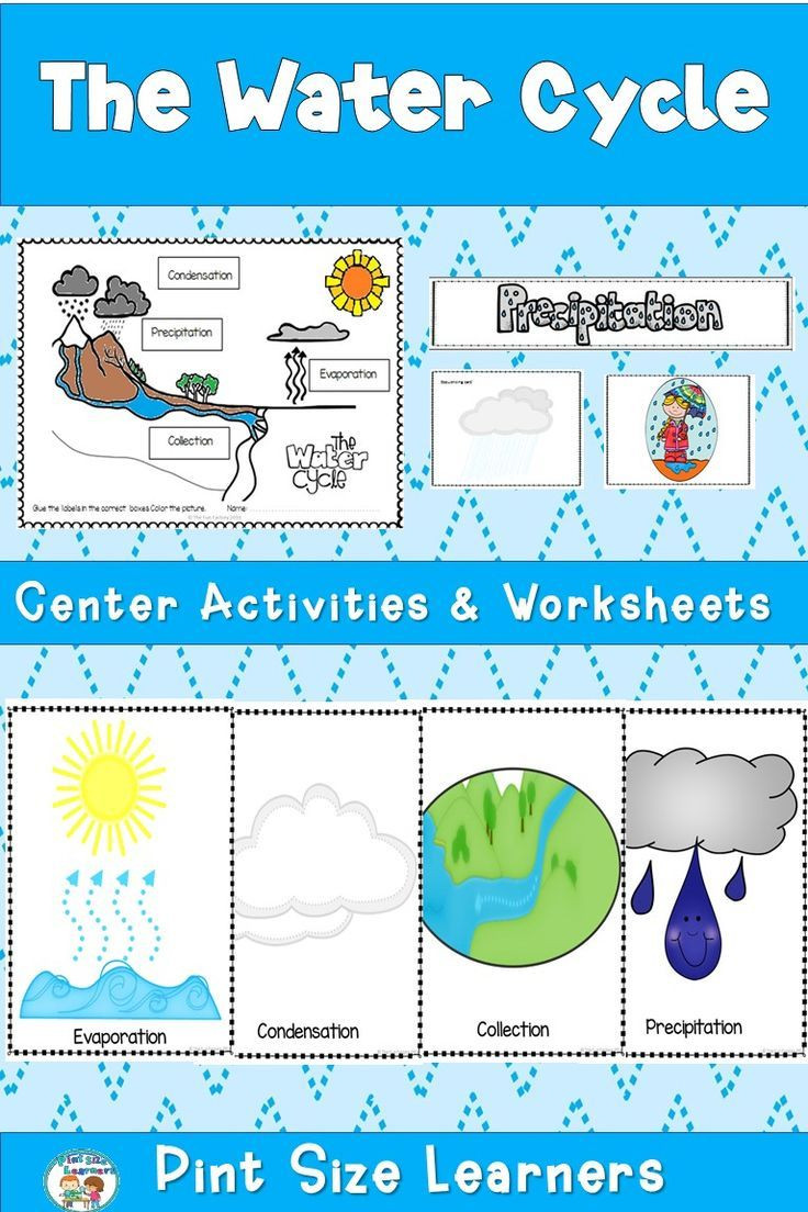 This water cycle unit for first and second grade students