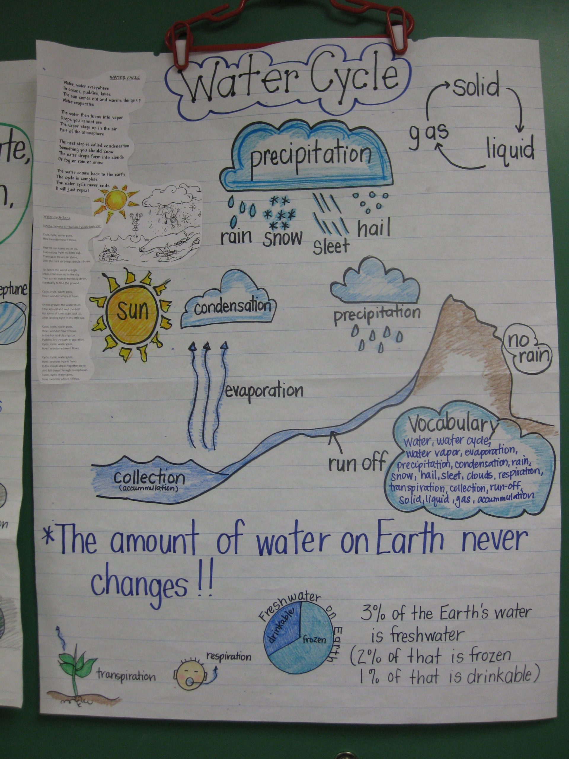 Water Cycle Worksheet 4th Grade Staar Review Anchor Chart I Use This Chart to Review the