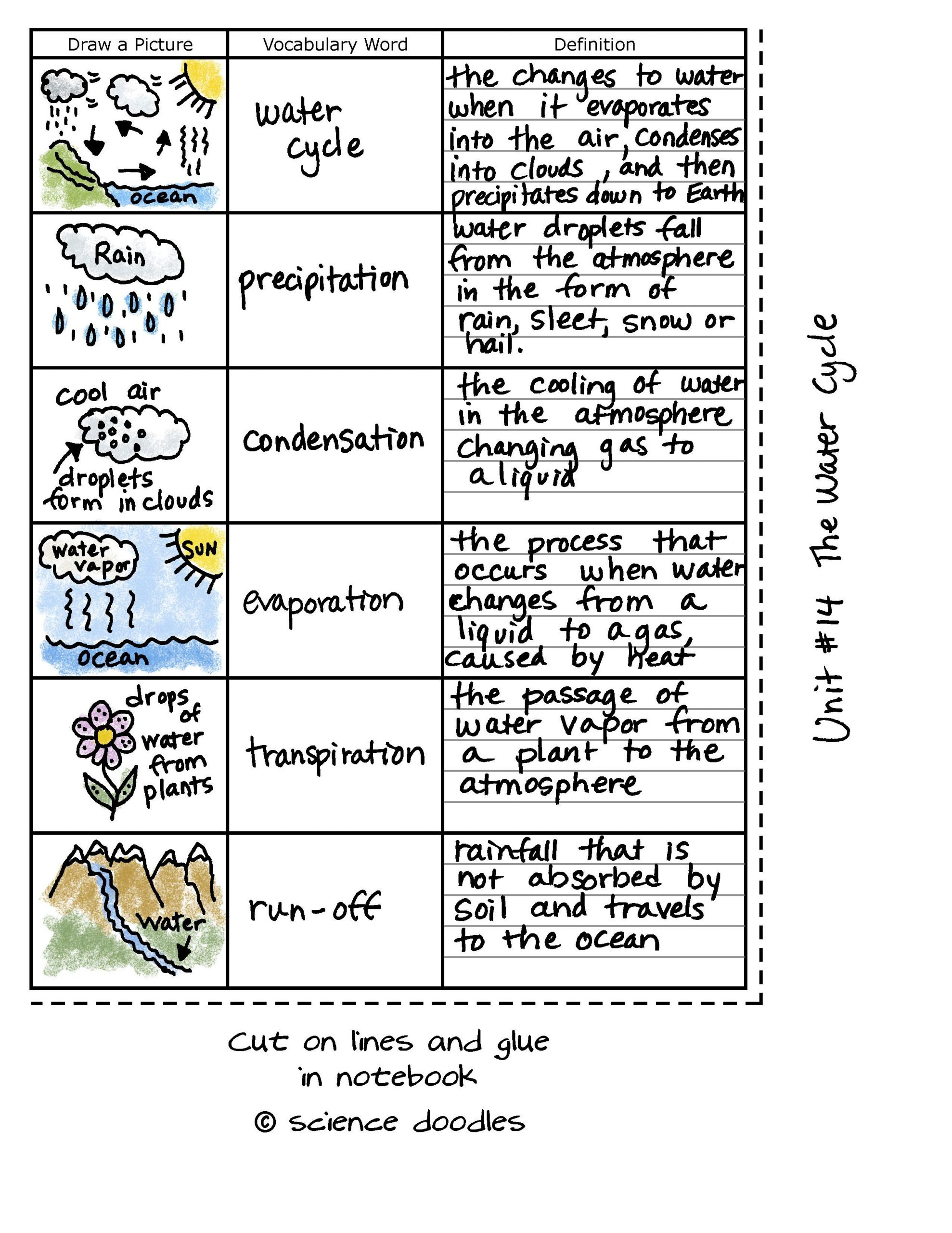 Water Cycle Worksheet 4th Grade Worksheet