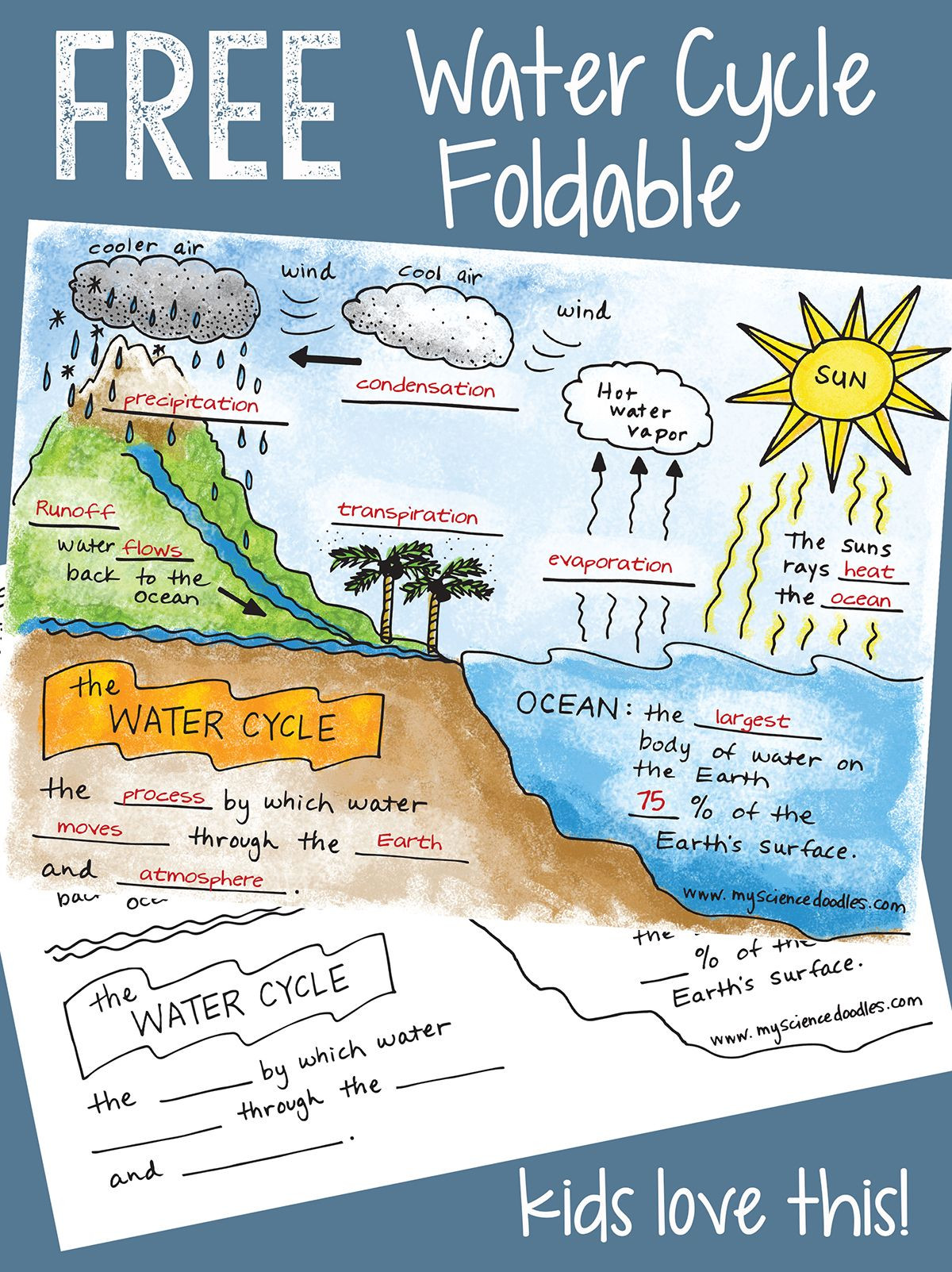 Water Cycle Worksheet 5th Grade Science Doodle Free the Water Cycle Interactive Notebook