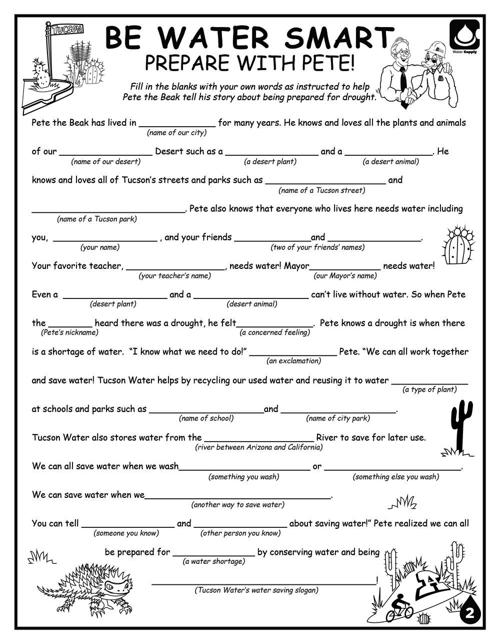 Water Quality Worksheet Middle School Print — Environmental Education Exchange