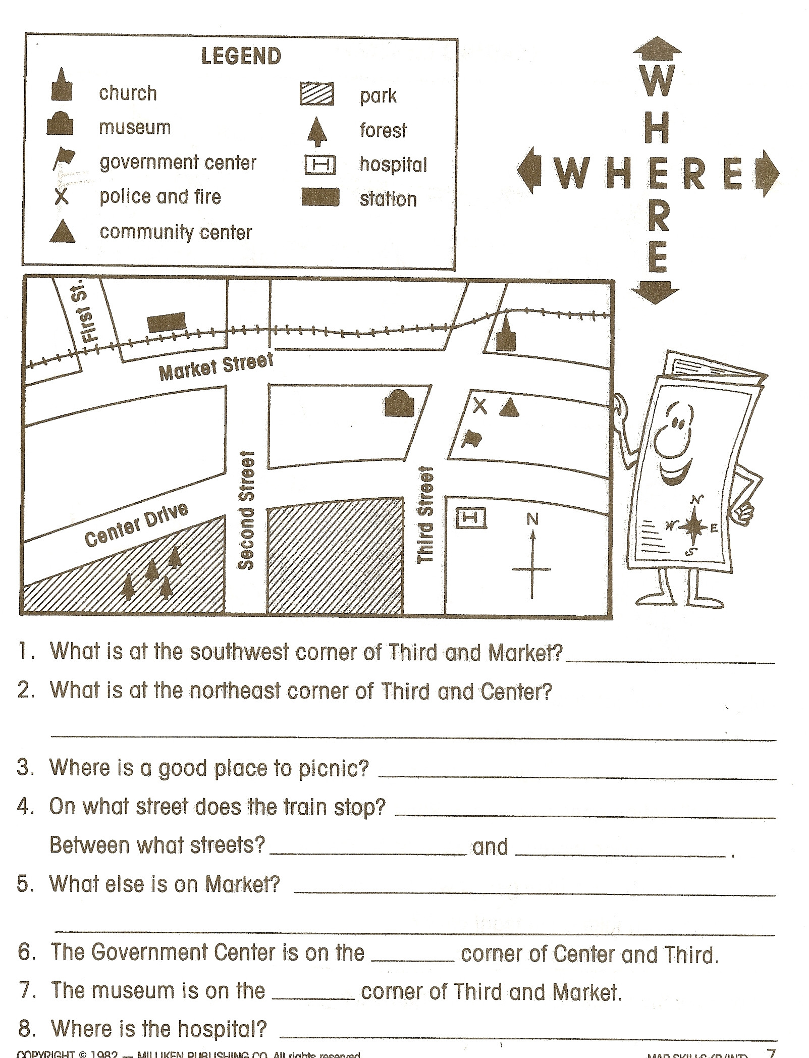 Weather Map Worksheet Middle School 19 Best Creating Map Symbols Images